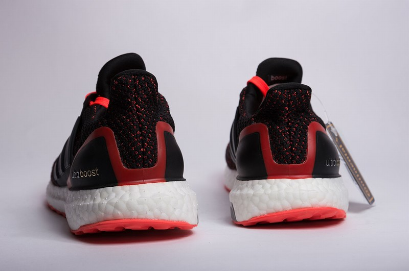 adidas Ultra Boost 2.0 Core Black Solar Red